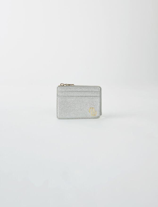 Double M glitter card holder -  - MAJE