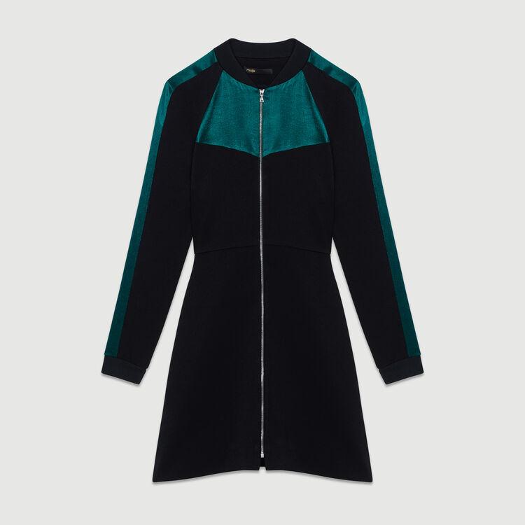 Bicolor teddy dress : Dresses color Black 210