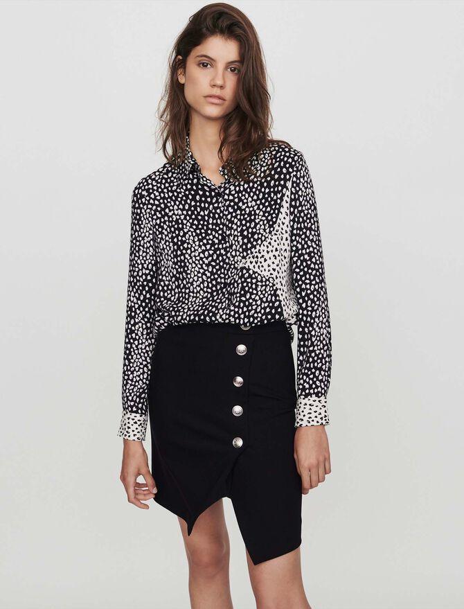 Patched jacquard-printed shirt - Tops & Shirts - MAJE