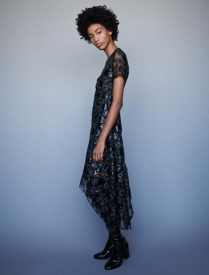 Long sequin-embroidered tulle dress - Présoldes_20_BE - MAJE