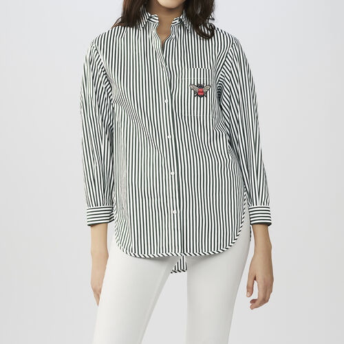 Striped cotton shirt : Tops color Stripe