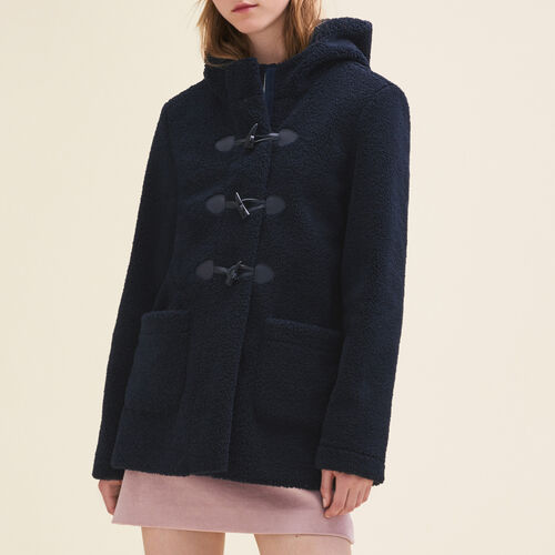 Faux fur duffle coat : Coats color Navy