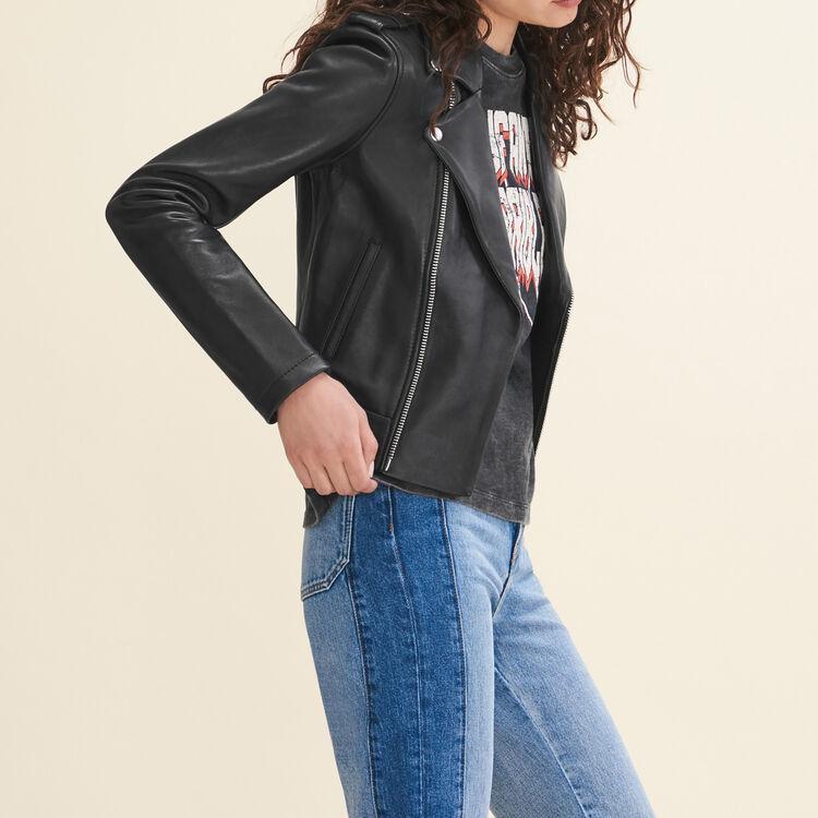 Bonded leather jacket : Jackets color Black 210
