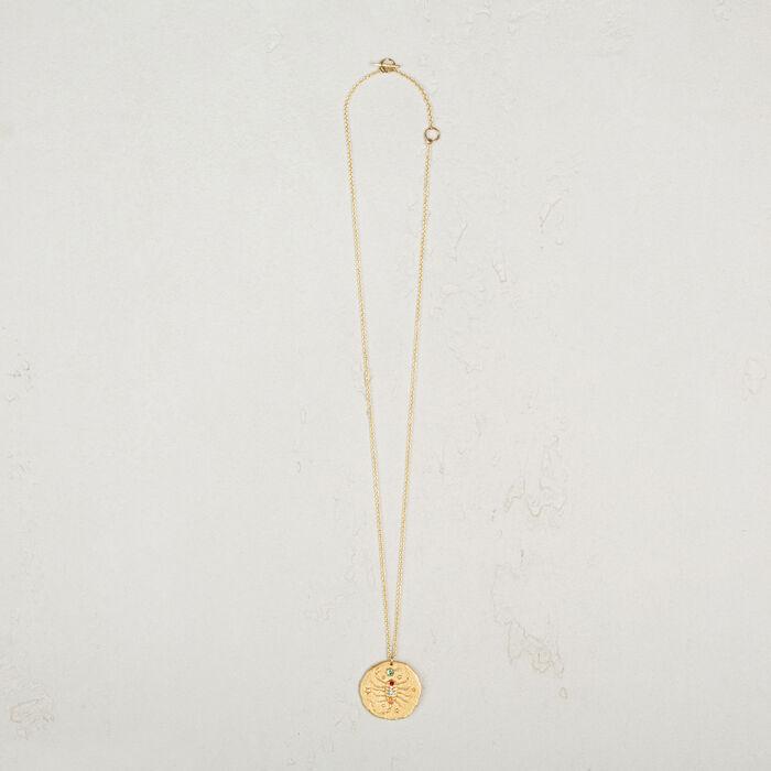 Scorpio zodiac sign necklace -  - MAJE