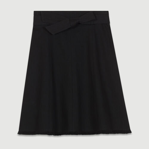 Denim flared skirt : Skirts & Shorts color Black 210