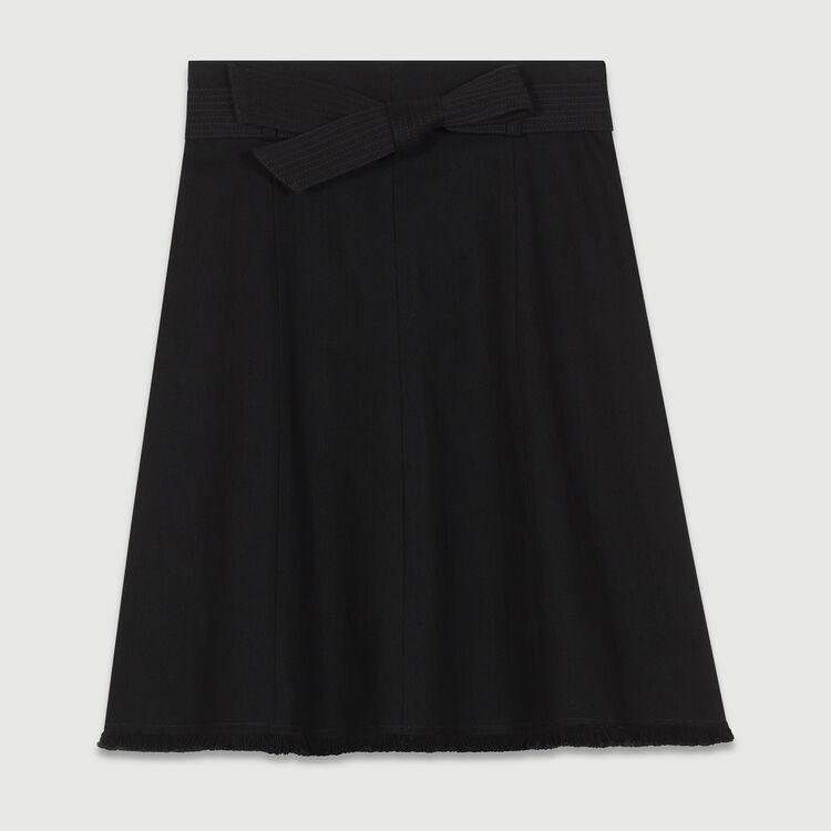 Denim flared skirt : Skirts & Shorts color Black 210