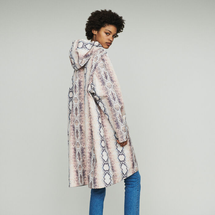 Windbreaker with pythonprint : Coats & Jackets color Printed