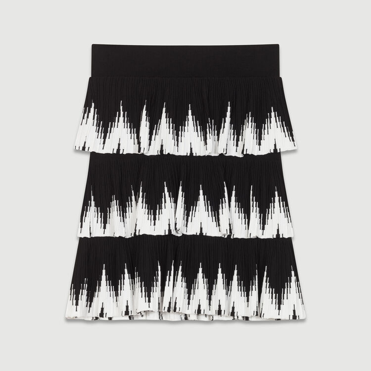 Knit flounce skirt : Skirts & Shorts color Black 210