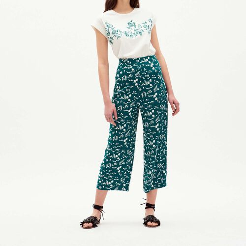 Fluid printed pants : Trousers & Jeans color PRINTED