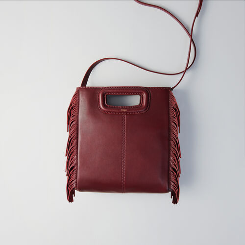 Leather M bag : M bag color Burgundy