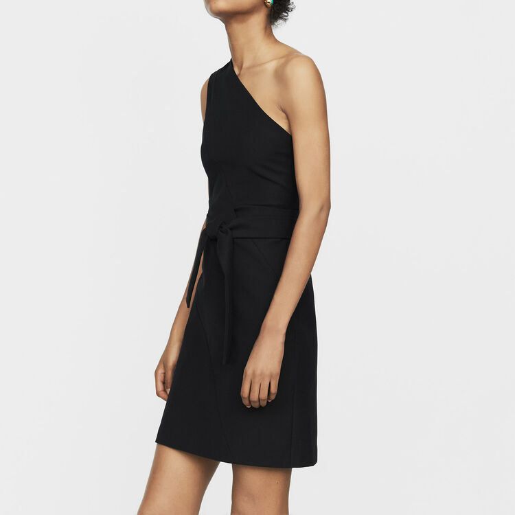Off-the-shoulder short dress : Ready to wear color Black 210