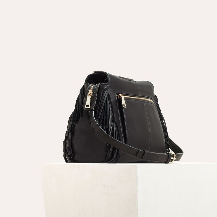 Leather shoulder bag  : M Walk color