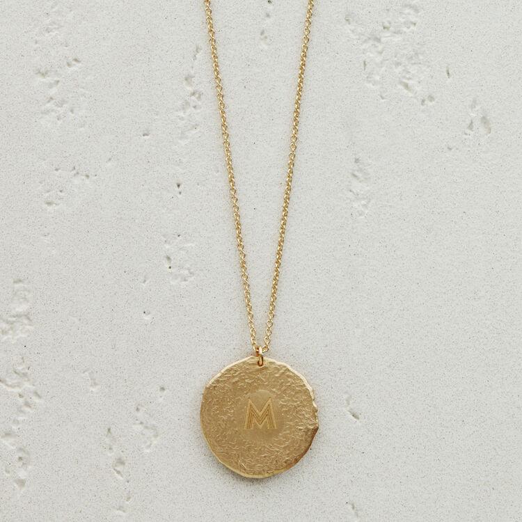 Gemini zodiac sign necklace : Medallions color GOLD