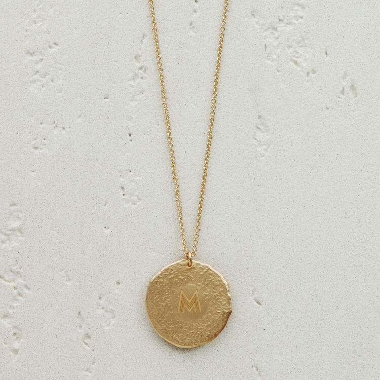 Gemini zodiac sign necklace : See all color GOLD