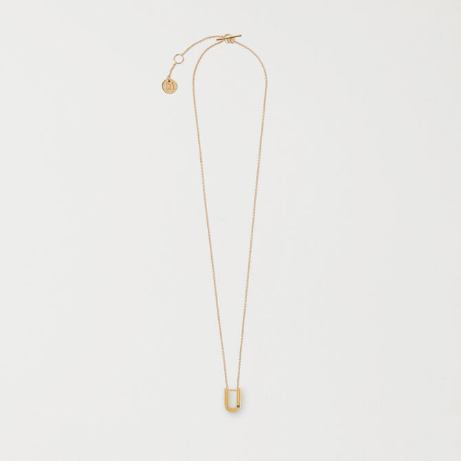 Necklace with initial pendant - staff private sale 20 - MAJE