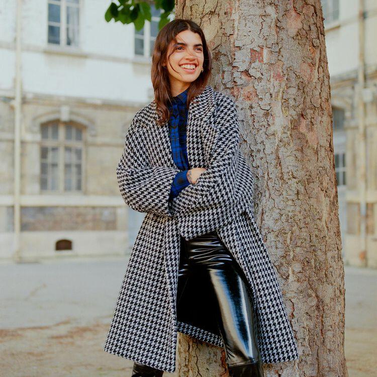 Oversize coat with double button closure : Coats color Jacquard