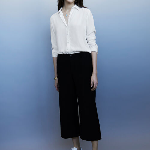 Wide-legged trousers : Trousers & Jeans color Black 210