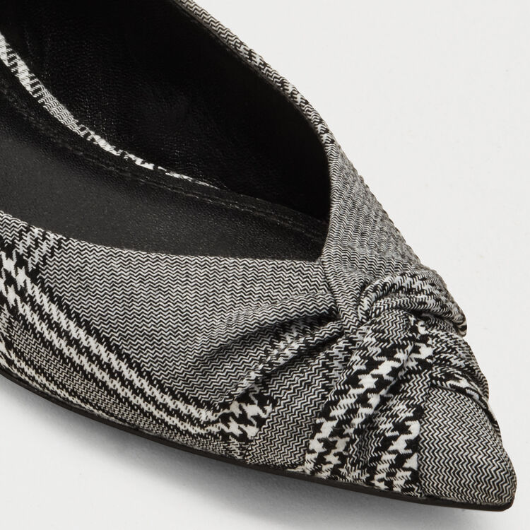 Flat pumps in Prince of Wales plaid : New collection color CARREAUX