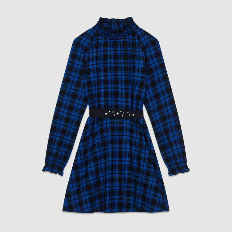 Short plaid dress : Dresses color CARREAUX