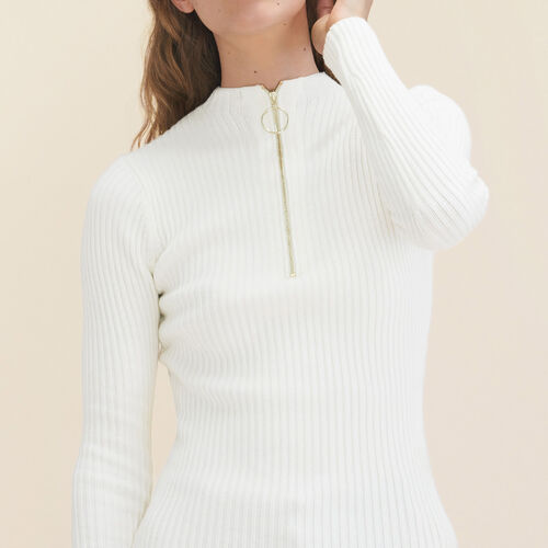 Stretch-knit thin jumper - Knitwear - MAJE