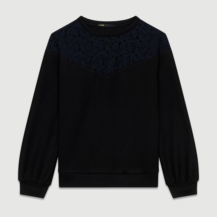 Lace sweatshirt : Sweatshirts color