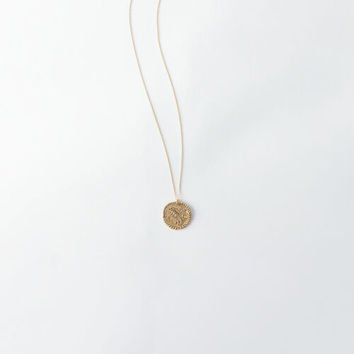 Scorpio zodiac sign necklace : Jewelry color Old Brass