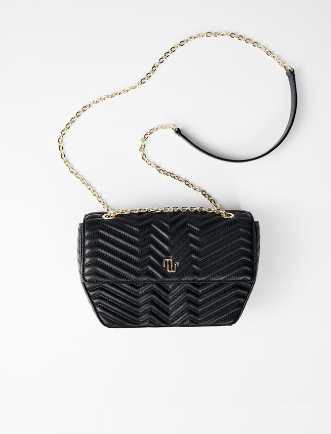 Quilted leather flap bag -  - MAJE