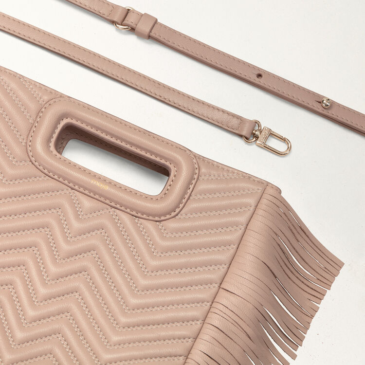 Quilted leather M bag : Bags color