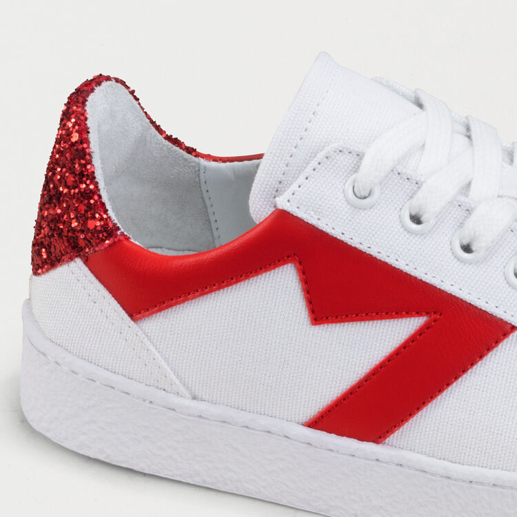 Sneakers with contrasting details : See all color White