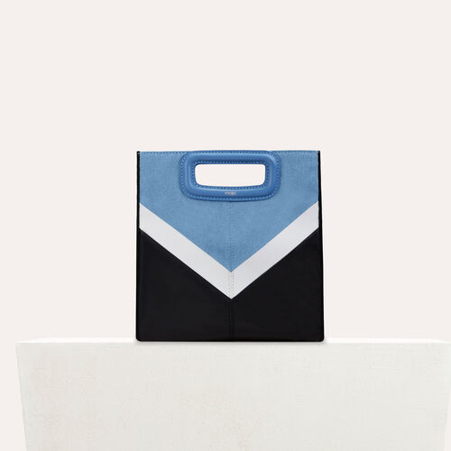 Leather and denim M bag : -30% color Multico