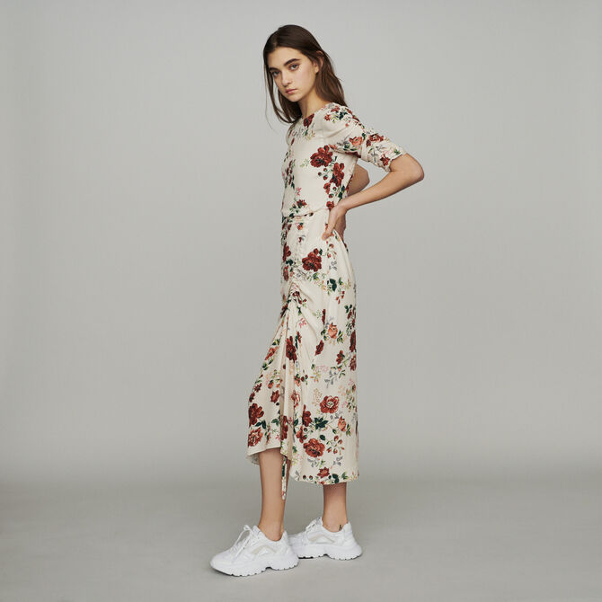 Long dress with floral print - staff private sale - MAJE