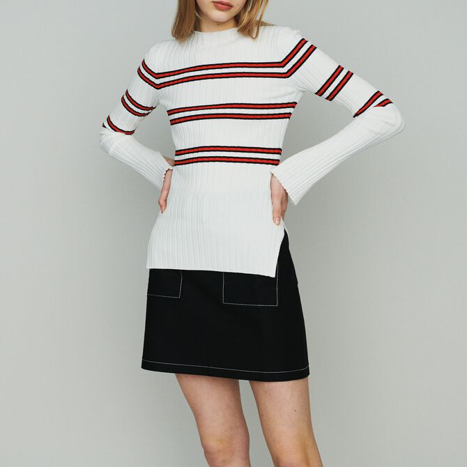 Thin sweater in striped tube knit - See all - MAJE