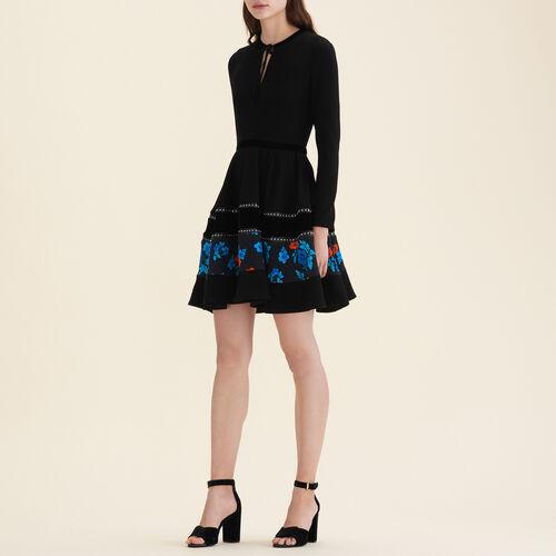 Mixed fabric skater dress - Dresses - MAJE