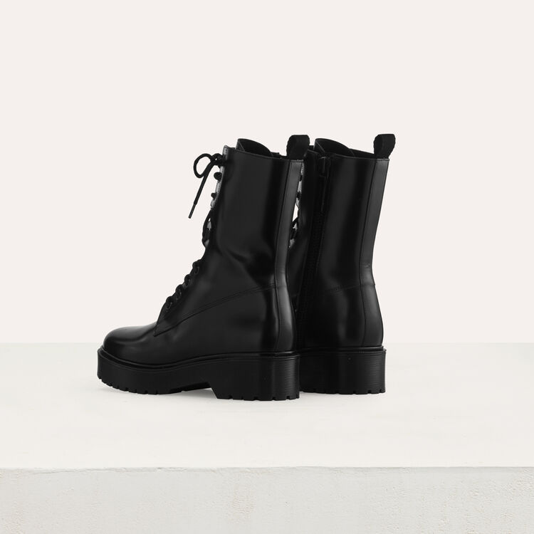 Ranger style booties : New collection color Black 210