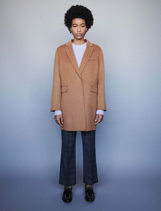 Double face cropped coat - Coats & Jackets - MAJE