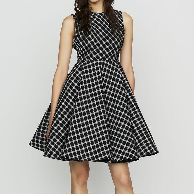 Checkered Skater Dress