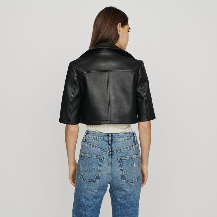 Leather jacket : Coats & Jackets color Black 210