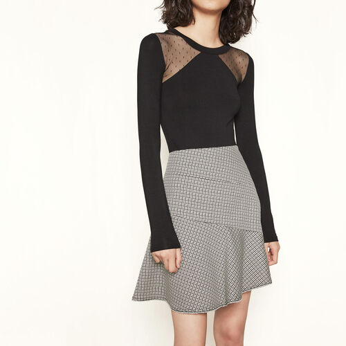 Short checked skirt : Skirts & Shorts color Jacquard