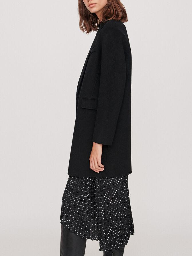 Double sided wool coat -  - MAJE