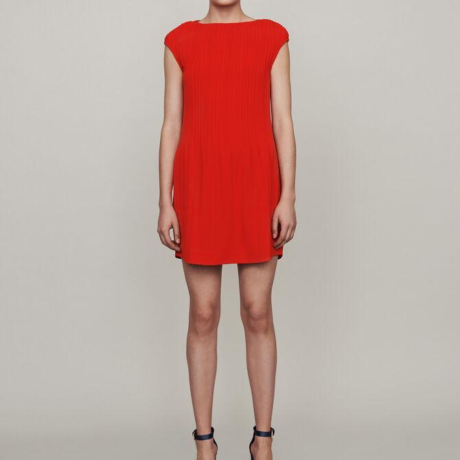 Sleeveless pleated dress - See all - MAJE