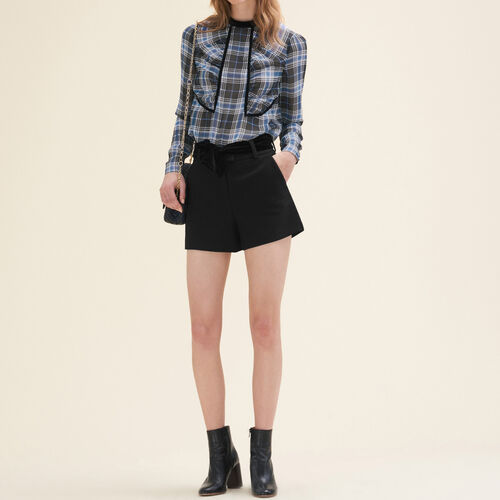 Floaty checked blouse - Shirts - MAJE