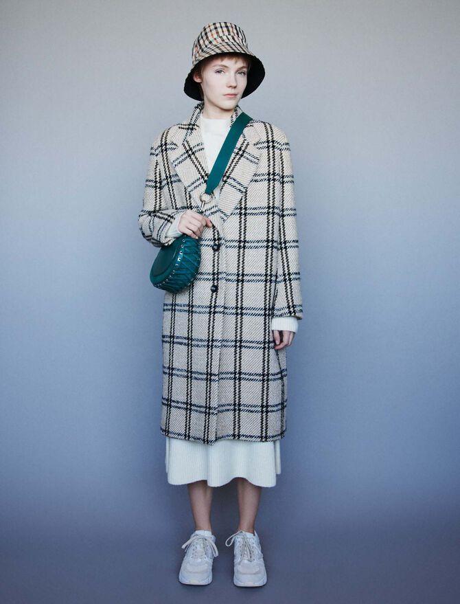 Long plaid coat - Coats & Jackets - MAJE