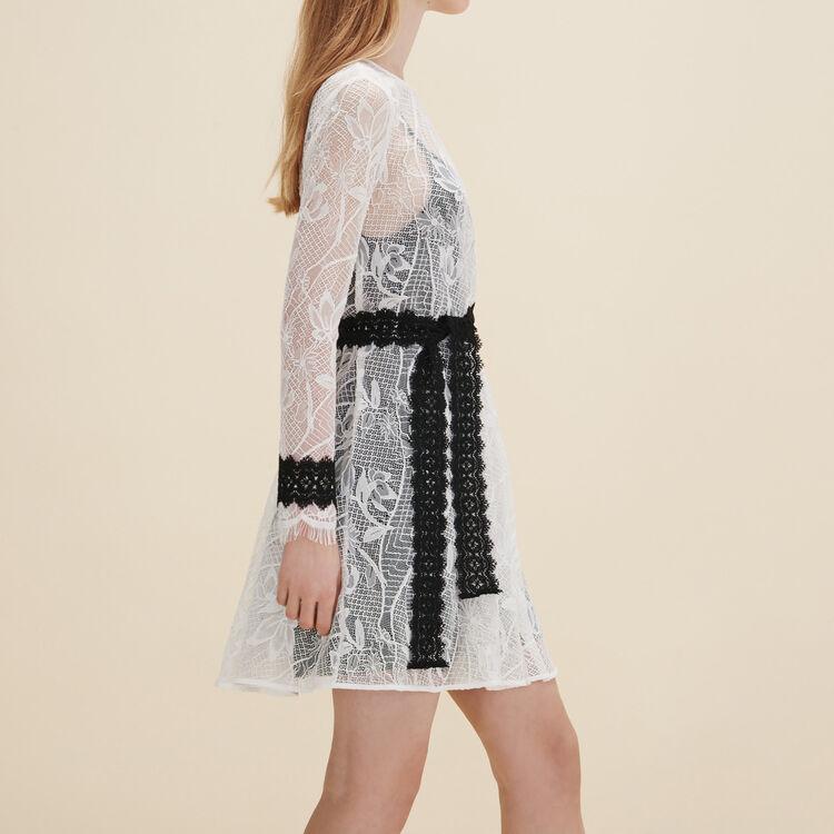 Short lace dress - Tout Voir - MAJE