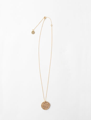 Pisces zodiac sign necklace : Jewelry color Old Brass