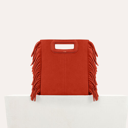 Suede M bag : M bags color Orange