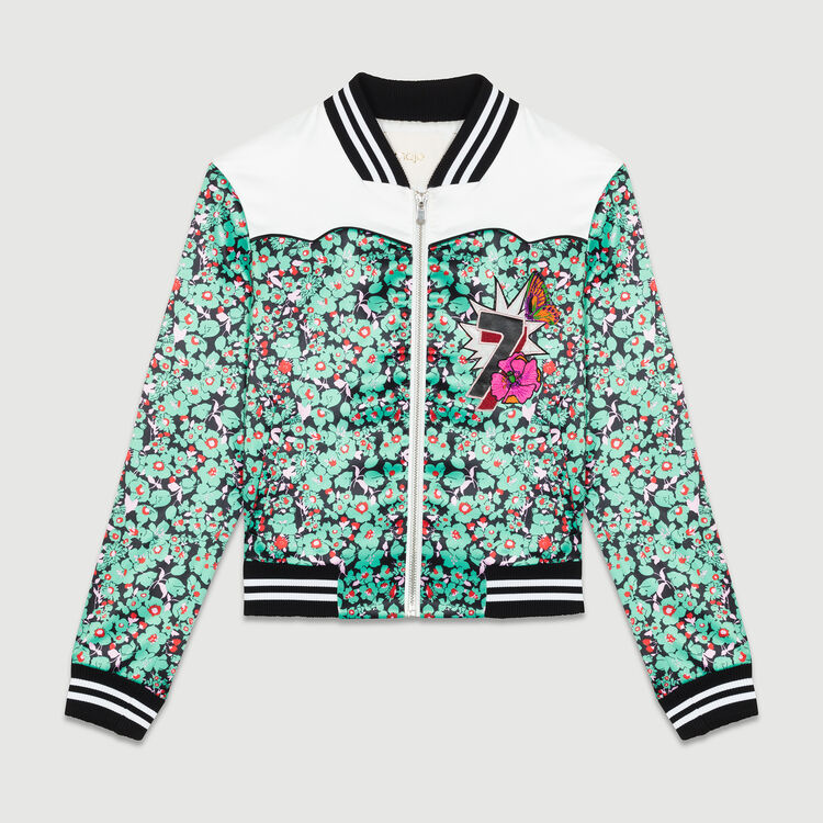 Multicolored bomber jacket : Jackets color PRINTED