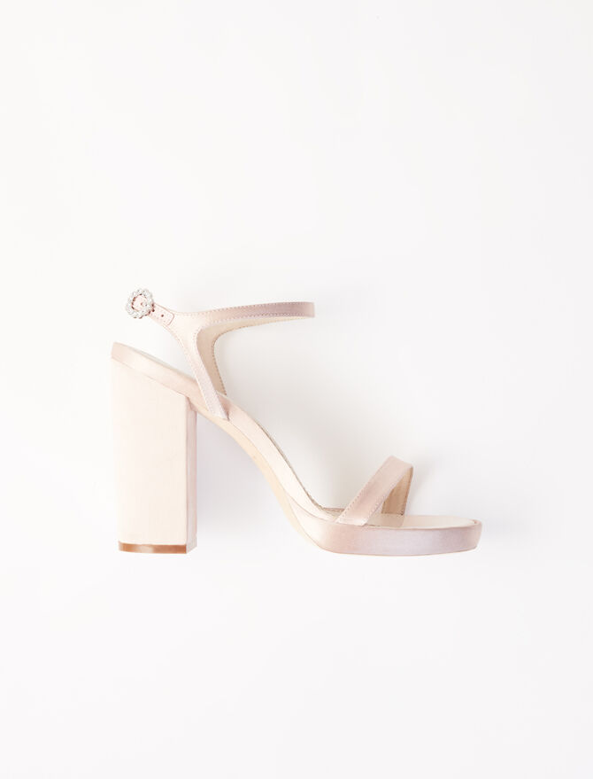 Satin heeled sandals -  - MAJE
