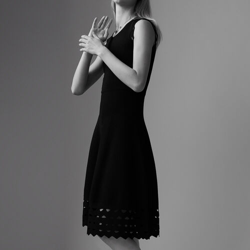 Sheer knit dress : Dresses color Black 210