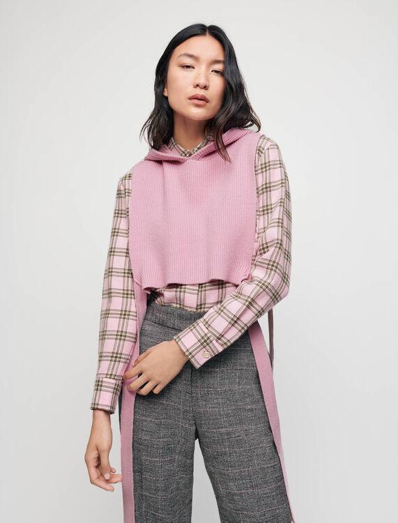 Knit collar with hood - Knitwear - MAJE