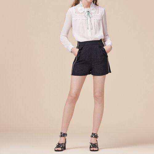 Shorts with brocade print : Skirts & Shorts color Black 210